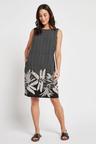 Next Linen Blend Shift Dress - Tall