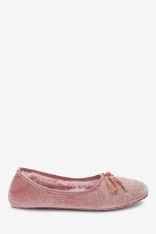 Next Velvet Ballerina Slippers - 263591
