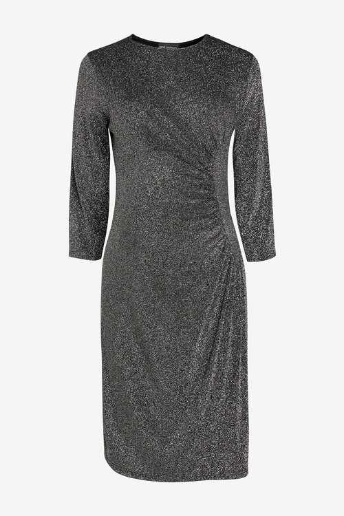 Next Maternity Circle Seam Metallic Dress