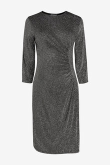 Next Maternity Circle Seam Metallic Dress - 263596