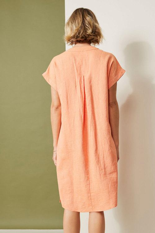 Capture Linen Blend Stripe Shift Dress