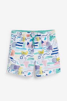 Next Abstract Print Swim Shorts - 263640