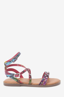 Next Strappy Stud Sandals (Older) - 263703