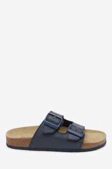 Next Leather Buckle Corkbed Sandals (Older) - 263713