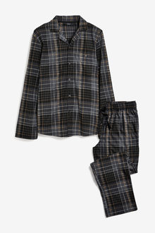 Next Cosy Check Pyjama Set - 263736