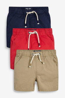 Next 3 Pack Pull-On Shorts (3mths-7yrs) - 263766