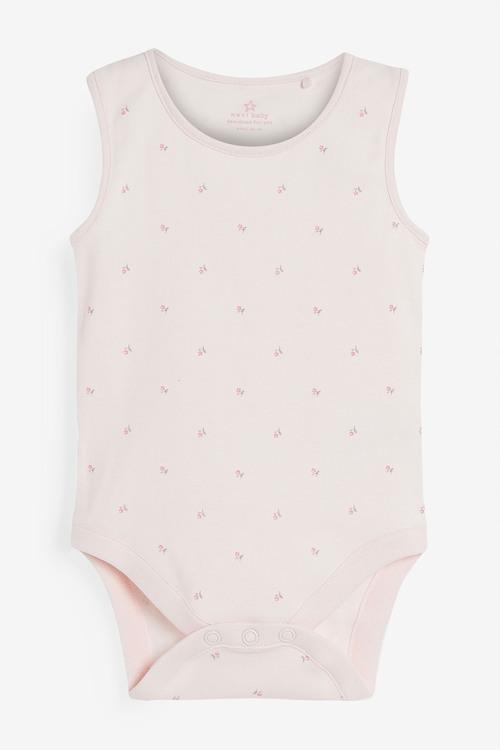 Next 4 Pack GOTS Organic Bunny Vest Bodysuits (0mths-3yrs)