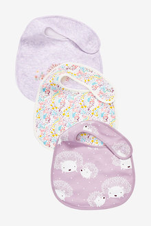 Next 3 Pack Hedgehog Bibs - 263816