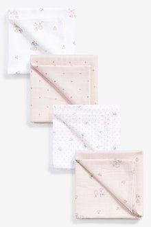 Next 4 Pack Bunny Muslin Cloths - 263820