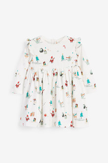 Next Christmas Print Jersey Dress (0mths-2yrs) - 263829