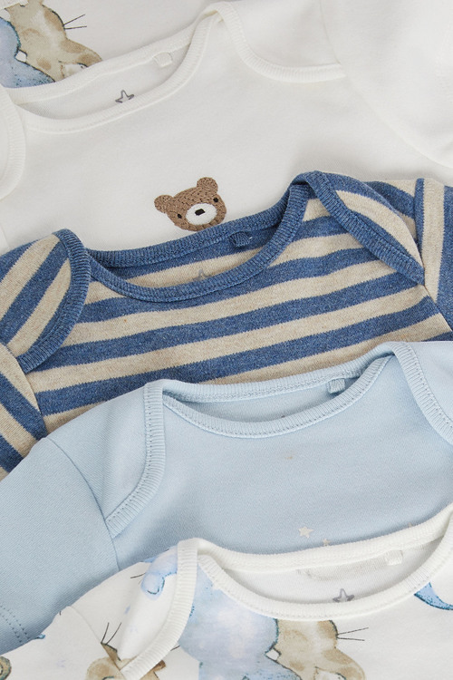 Next 5 Pack Bear Short Sleeve Bodysuits (0mths-3yrs)