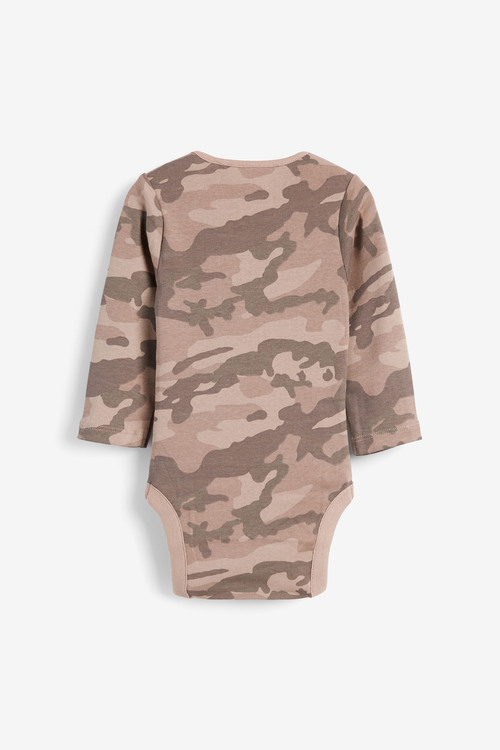 Next 5 Pack Camo Long Sleeve Bodysuits (0mths-3yrs)