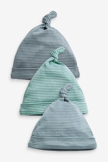 Next 3 Pack Stripe Tie Top Hats (0-18mths) - 263863