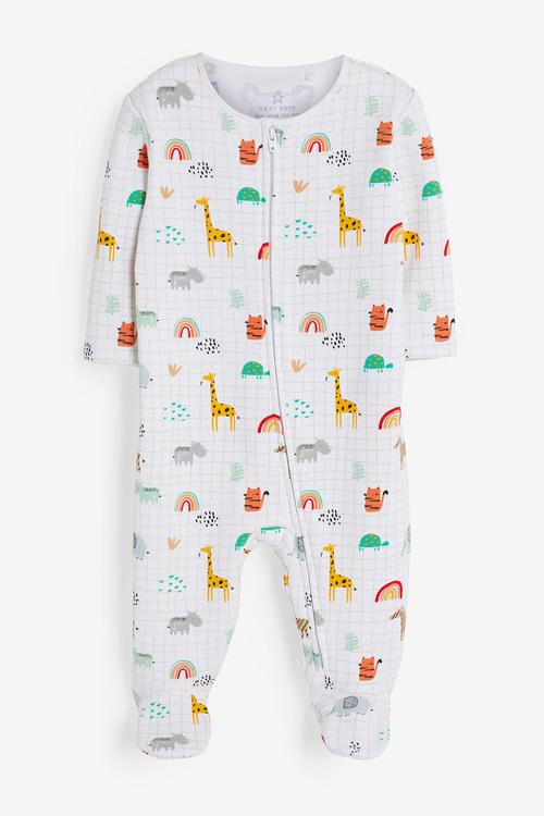 Next Safari Fleece Lined Sleepsuit (0mths-2yrs)