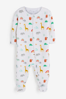 Next Safari Fleece Lined Sleepsuit (0mths-2yrs) - 263880