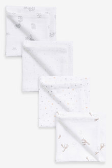 Next 4 Pack Giraffe Muslin Cloths - 263903