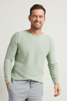 Southcape Textured Crew Neck Sweater - 264004