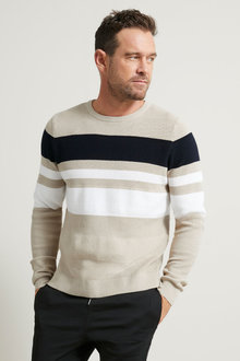 Southcape Textured Colorblock Sweater - 264005