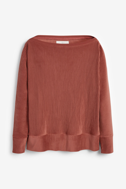 Next Ribbed Off The Shoulder Top