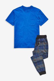 Next Check Woven Cuffed Pyjama Set - 264085