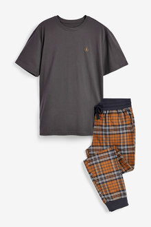 Next Check Woven Cuffed Pyjama Set - 264085