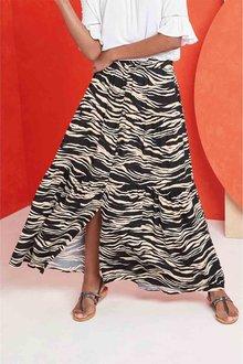 Next Mono Zebra Maxi Skirt - 264120