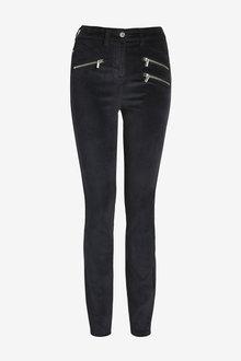 Next Velvet Biker Skinny Jeans - 264232