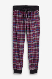 Next Check Woven Cuffed Pyjama Bottoms - 264288