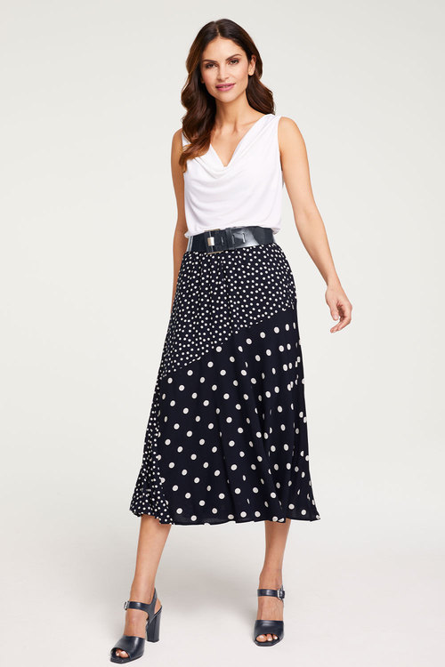 Heine Spliced Print Skirt