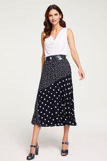 Heine Spliced Print Skirt - 264341