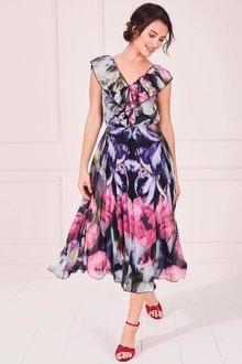 Kaleidoscope Iris Poppy Print Dress - 264539