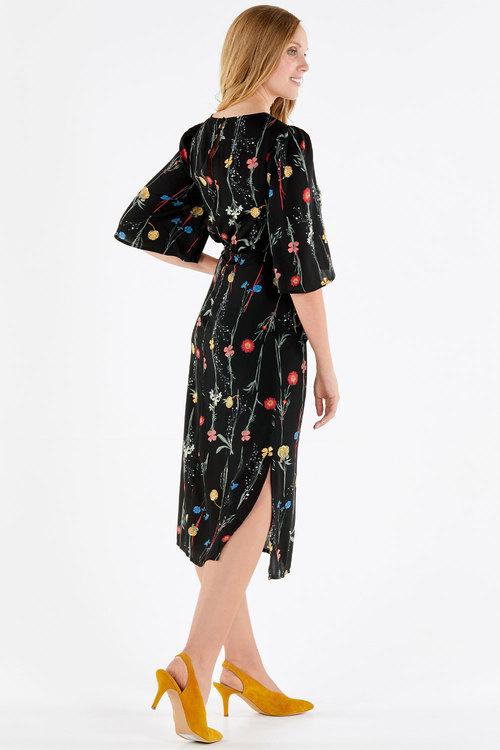 Kaleidoscope Floral Bell Dress