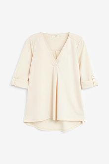 Next Cream Turn-Up Sleeve Shirt - 264606
