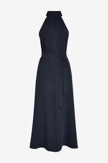 Next Navy Emma Willis Halter Neck Dress - 264676