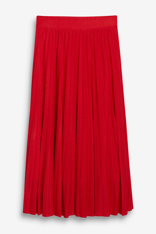 Next Red Pleated Skirt