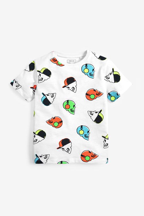 Next Multi Skull All Over Print T-Shirt
