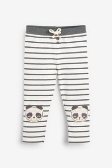 Next Monochrome Panda Knee Embroidered Leggings (3mths-7yrs) - 264812
