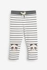 Next Monochrome Panda Knee Embroidered Leggings (3mths-7yrs)