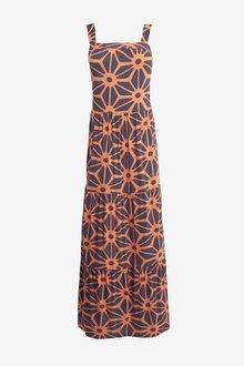 Next Brown Tiered Maxi Dress - 264859