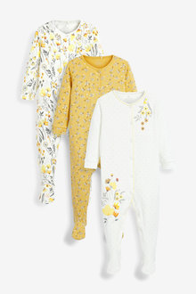 Next 3 Pack Floral Sleepsuits (0-2yrs) - 264895