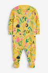 Next 3 Pack Floral Unicorn Sleepsuits (0-2yrs)