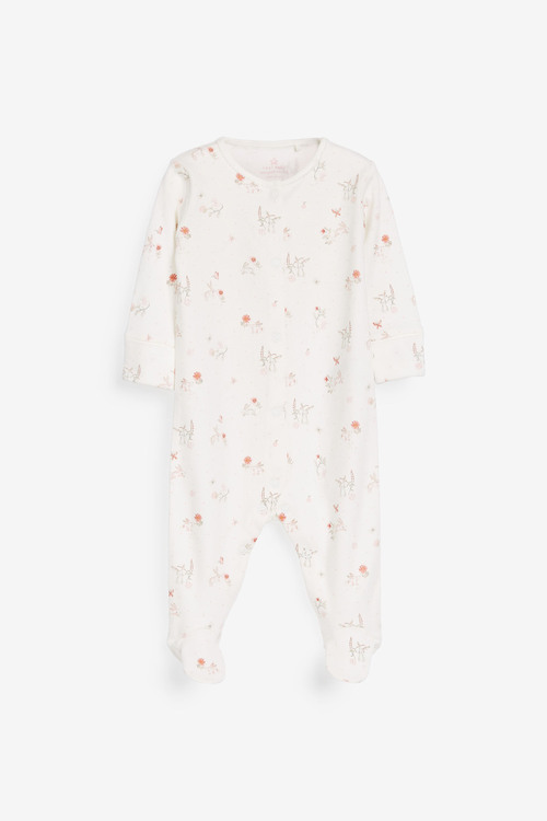 Next 3 Pack Floral Bunny Sleepsuits (0mths-2yrs)