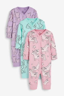 Next 3 Pack Character Footless Sleepsuits (0mths-3yrs) - 264905