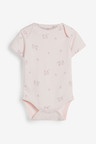 Next 4 Pack GOTS Organic Delicate Bunny Short Sleeved Bodysuits (0mths-