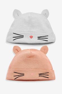 Next 2 Pack Cat Beanie Hats (0-18mths) - 264912