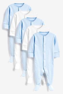 Next 5 Pack Essentials Sleepsuits (0-12mths) - 264915
