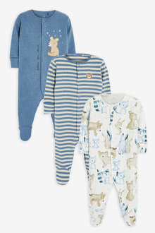 Next 3 Pack Bear Sleepsuits (0mths-2yrs) - 264918