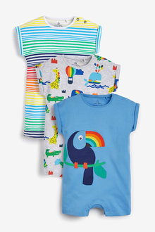 Next 3 Pack Toucan Rompers (0mths-3yrs) - 264922