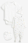 Next GOTS Organic Character Sleepsuit, Short Sleeve Bodysuit, Bib and