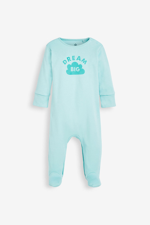 Next 4 Pack GOTS Organic Character Face Sleepsuit (0mths-2yrs)